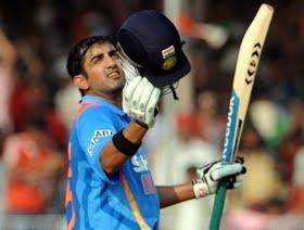 Gautam Gambhir scored his 11th ODI century