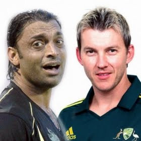 Shoaib Akhtar and Brett Lee