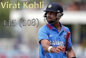 Man of the match Virat Kohli for his 115 runs off 108 balls