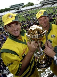 Mark Waugh (left) and Steve Waugh (right)
