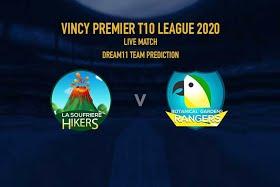 Vincy Premier T10 League 2020: La Soufriere Hikers vs Botanic Garden Rangers, 2nd match Live scores, Squads