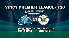 Vincy Premier T10 League 2020: Dark View Explorers vs Fort Charlotte Strikers, 3rd match Live scores, Squads