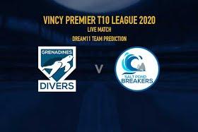 Vincy Premier T10 League 2020: Grenadines Divers vs Salt Pond Breakers, 1st T10 Live scores, Squads
