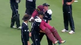 Rohit, Tendulkar applaud as Kiwi players carry injured Windies batsman off the field in U19 World Cup