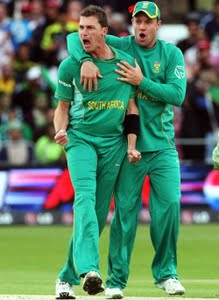 Dale Steyn and Ross Taylor