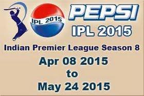 IPL 8: Indian Premier League 2015 schedule, Fixtures, Time table
