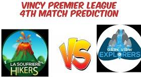 Vpl T10 2020 Dark View Explorers Vs La Soufriere Hikers 4th Match Live Scores Squads